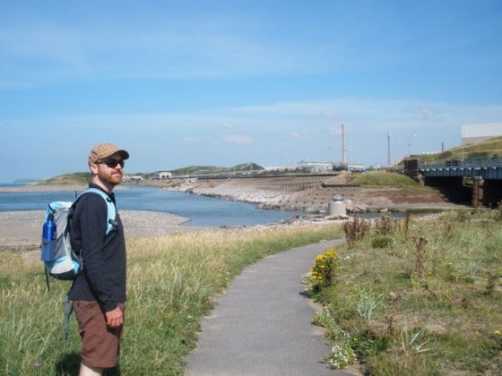 James Brady on fieldwork research at Sellafield, West Cumbria.