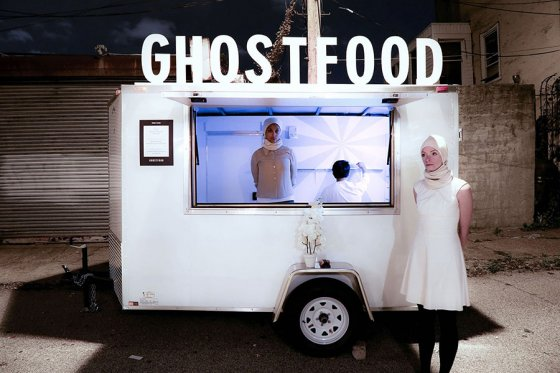 GhostFood by Miriam Simun, interactive performance